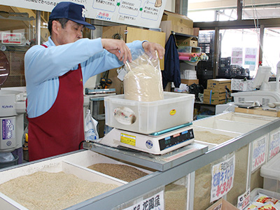 米販売コーナー